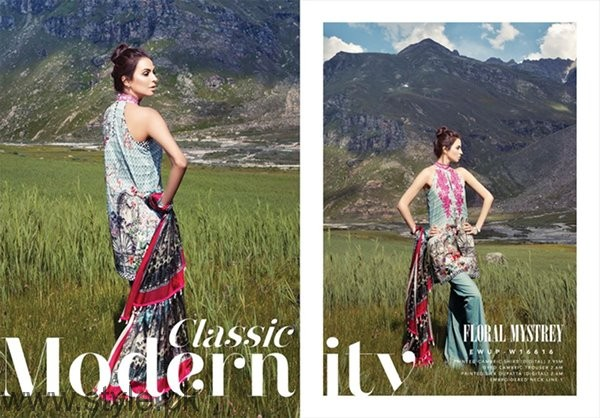 Ethnic By Outfitters Cambric Dresses 2016 For Women005