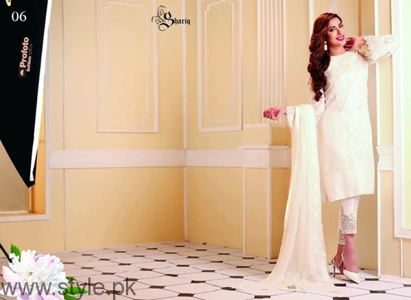 Nomi Ansari Embroidered Chiffon Dresses 2016 For Women005