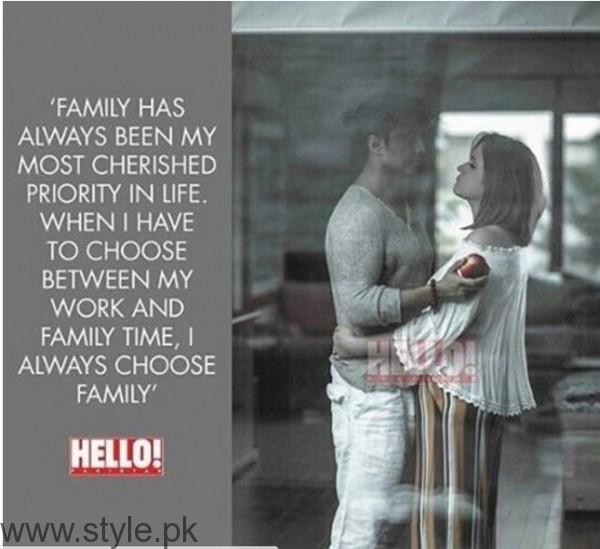 See Ali Zafar's Family Photoshoot for Hello Pakistan