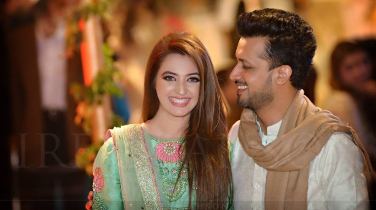 SeeAtif Alsam with his wife at a Wedding Ceremony in Lahore