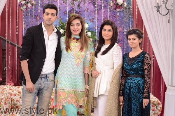 Furqan Qureshi with his Wife Sabrina in Good Morning Pakistan (12)