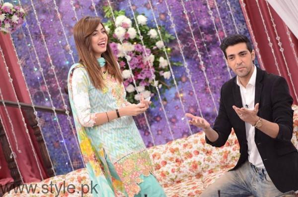 Furqan Qureshi with his Wife Sabrina in Good Morning Pakistan (2)