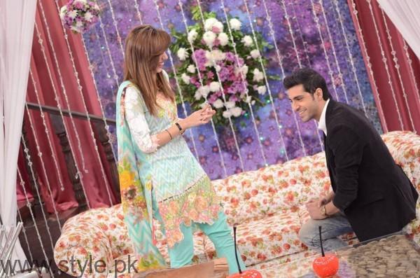 Furqan Qureshi with his Wife Sabrina in Good Morning Pakistan (3)