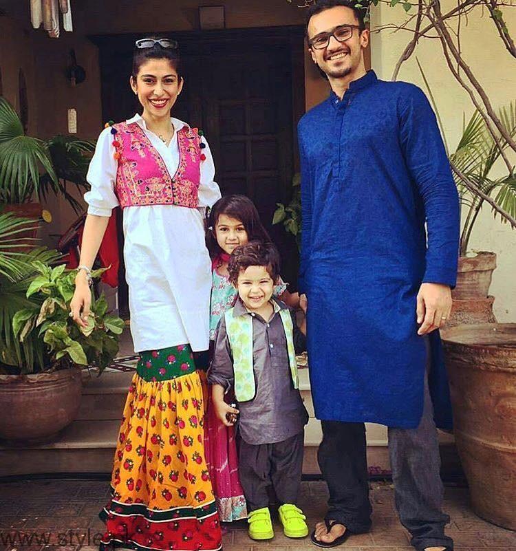 Meesha Shafi and Kids -  Beautiful Celebrity Mom