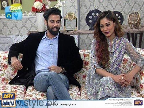 Noor Hassan and Indian Actress Sara Khan in Good Morning Pakistan (3)