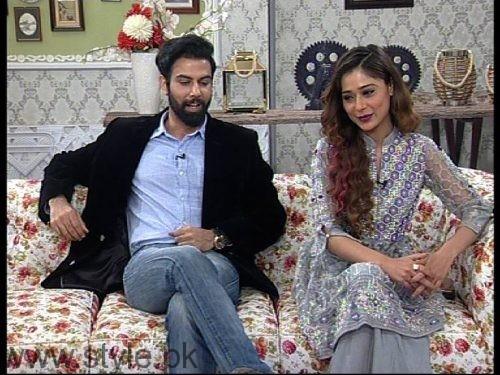 Noor Hassan and Indian Actress Sara Khan in Good Morning Pakistan (5)