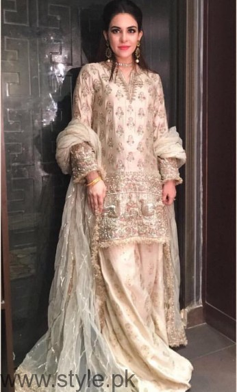 Pakistani Golden Party wear Dresses (6)