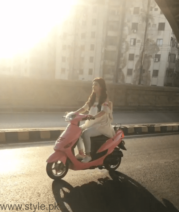 Urwa Hocane Riding Scooty