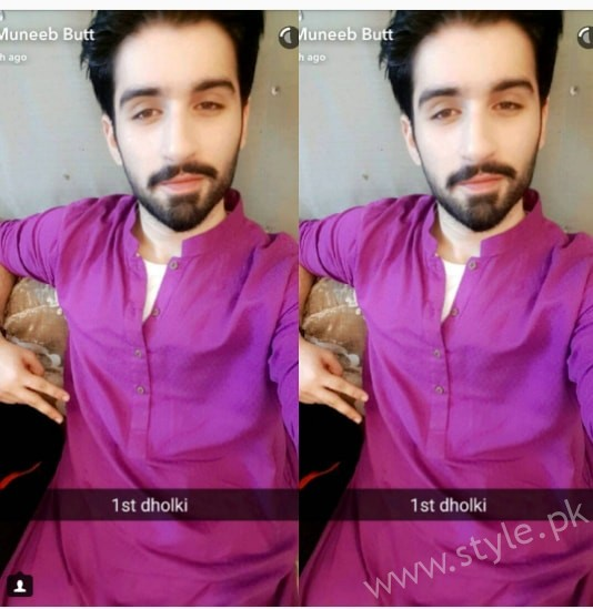 Aiman Khan and Muneeb Butt's First Dholki Pictures (2)