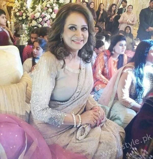 Bushra Ansari at Urwa Farhan Wedding