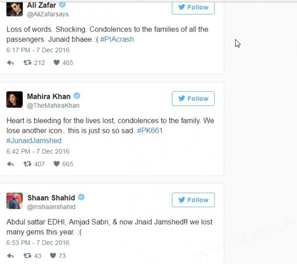 Everyone is heartbroken on death of Junaid Jamshed (2)