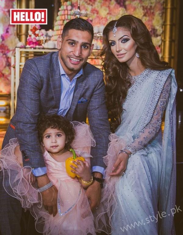 Faryal Makhdoom and Amir Khan Family