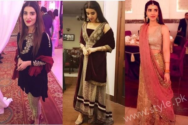 See Hareem Farooq at her friend's Wedding