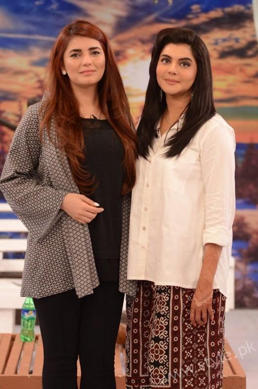 Momina Mustehsan and Nida Yasir at Good Morning Pakistan Show Pictures