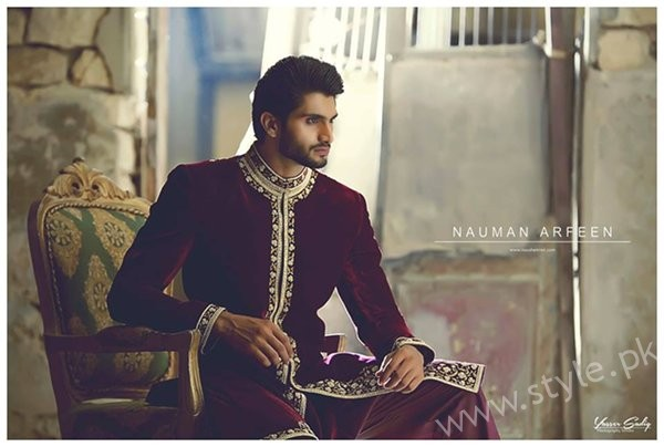 Nauman Arfeen Sherwani Collection 2016-2017 For Men 007