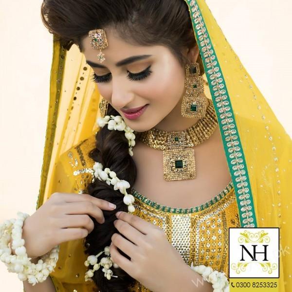 Sajal Ali Mayun Shoot Nadia Hussain Salon