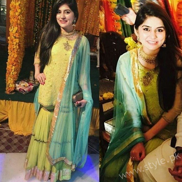 Sanam Baloch At Waleed Panwar's Wedding