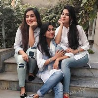 Sanam Baloch with sisters