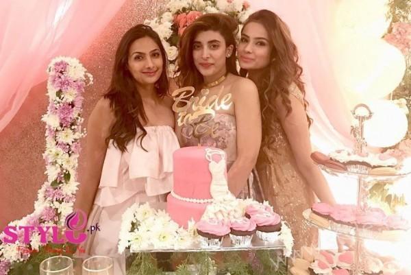 Urwa Farhan Pink Bridal Shower
