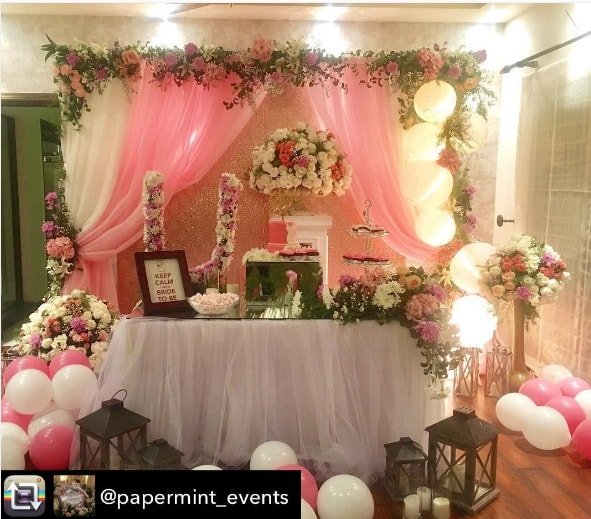 Urwa Hocane Bridal Shower Decoration Pictures