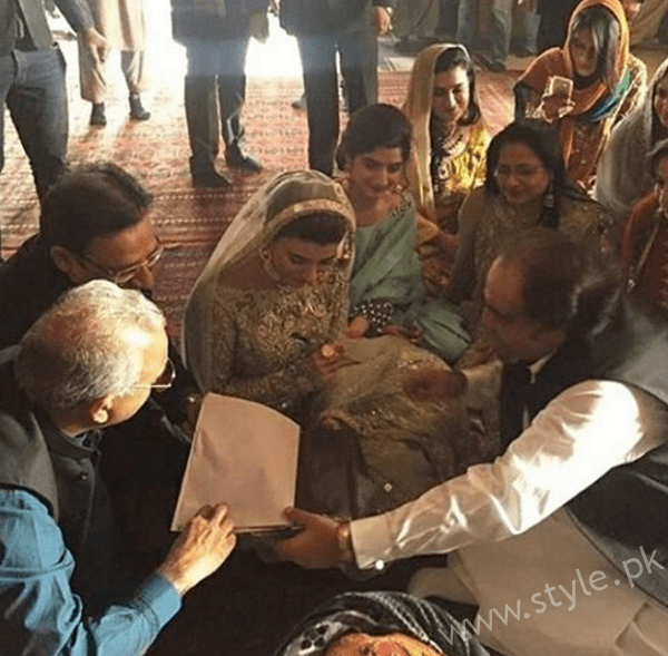 Urwa Hocane Signing Her Nikkah Papers