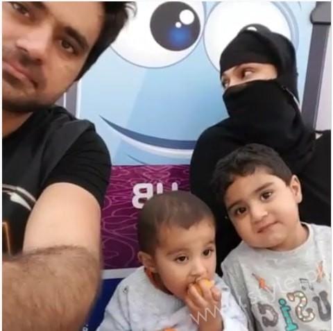 Veena Malik Spotted at Dubai Mall with Husband and Kids