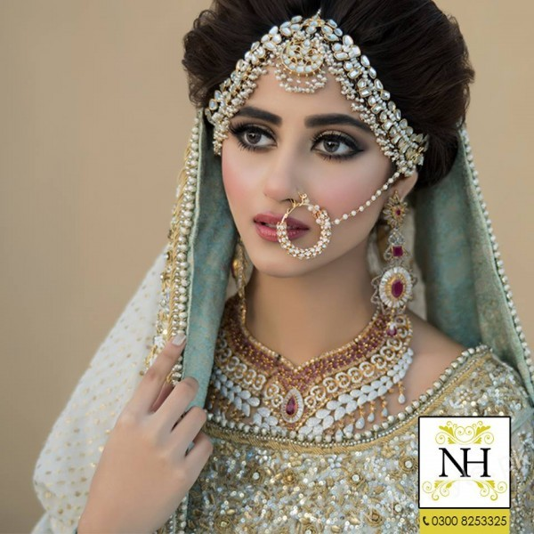 Sajal Ali Bridal Photoshoot For Nadia Hussain Salon