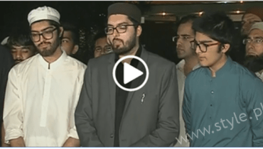 junaid jamshed son media talk funeral