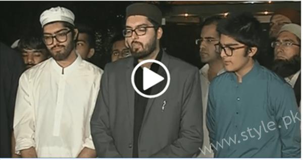 junaid jamshed son media talk funeral