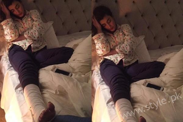See Urwa Hocane got her ankle broken