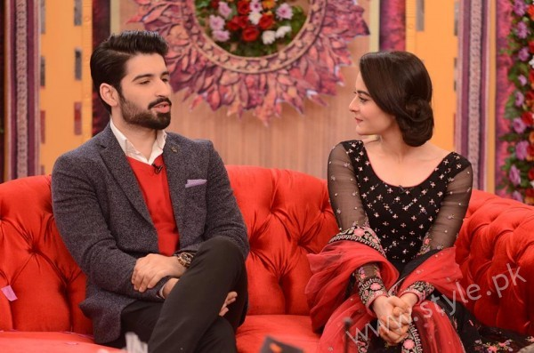 Aiman Khan and Muneeb Butt in Good Morning Pakistan (14)