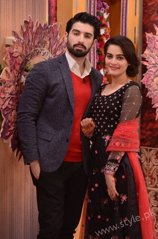 Aiman Khan and Muneeb Butt in Good Morning Pakistan (5)
