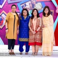Bushra Ansari with sisters