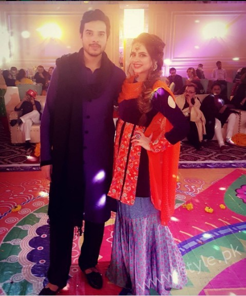 Fatima Effendi and Kanwar Arsalan at a Friend's Wedding (3)