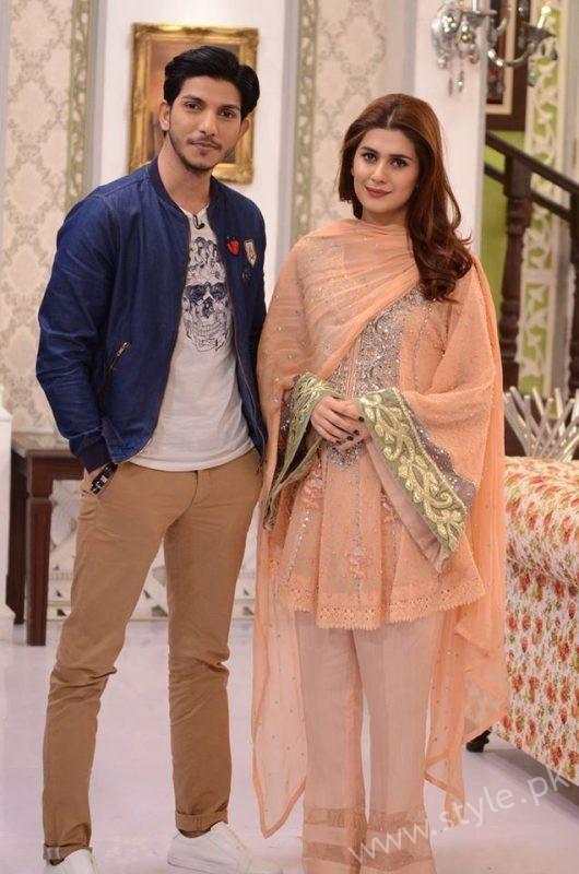 Kubra khan and Mohsin Abbas in Nida Yasir Show (1)