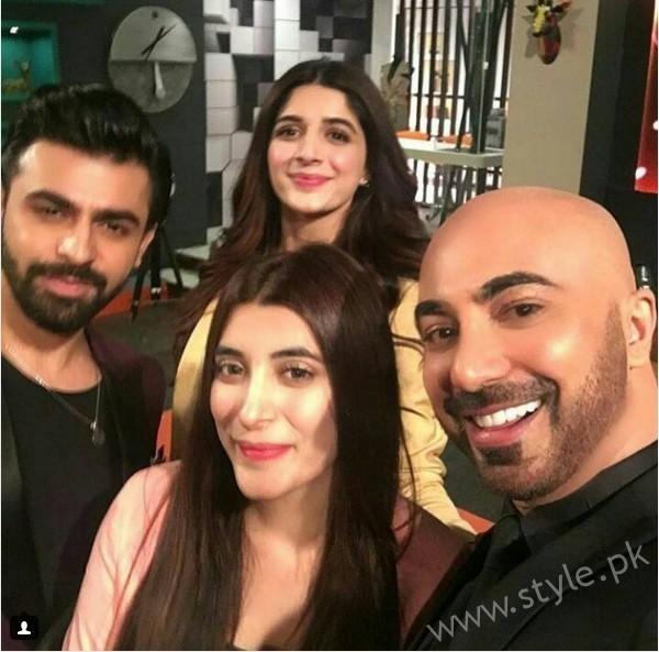 Marwa Hocane, Urwa Hocane and Farhan Saeed at Tonight with HSY (3)