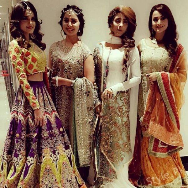 Pakistani Actresses At Sidra Batool Wedding