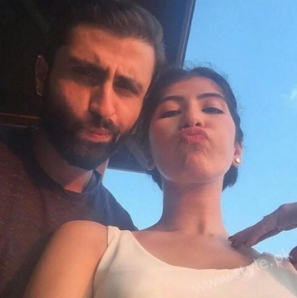 Palwasha Yousuf With Fiance Mustafa Jamshed
