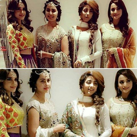 Sumbul Iqbal, Nimra Khan, Sanam Chaudhry and Zarnish Khan at Sidra Batool's Nikah