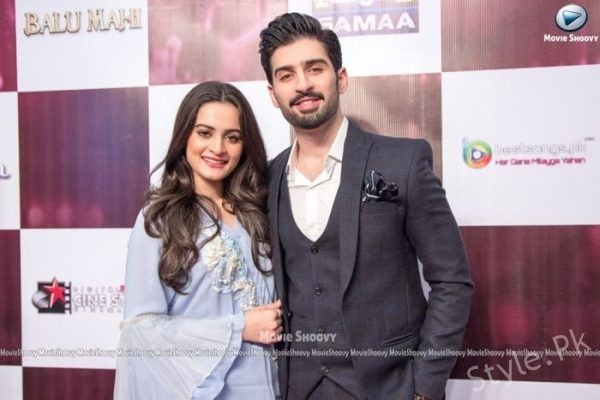Aiman Khan and Muneeb After Engagement