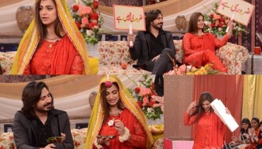 See Noor Bukhari with her fourth Husband in Good Morning Pakistan