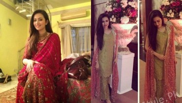 See Sana Javed's recent Pictures at a wedding