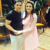 Hira Mani with husband