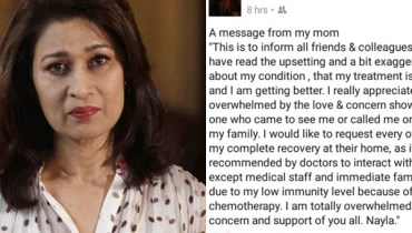 See Actress Nyla Jaffri cleared her condition
