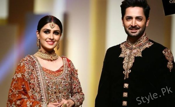 See For the very First Time Ayeza Khan and Danish Taimoor Walked on Ramp Together
