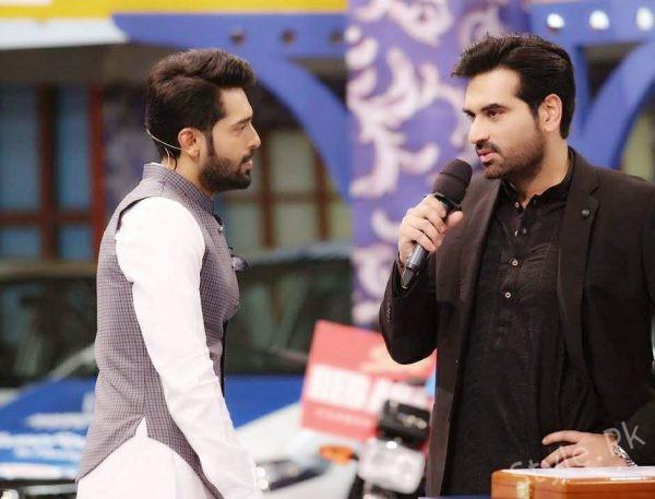 See Humayun Saeed looks Handsome in Black Shalwar Kameez
