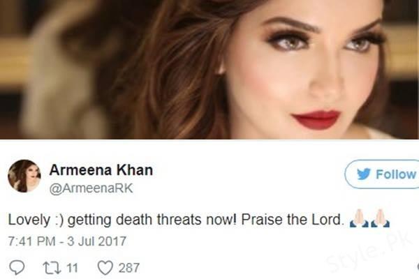 see Armeena Rana Khan is Receiving Death Threats.