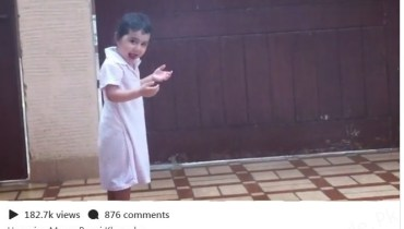 See Ayeza Khan's Daughter Enjoying Rain