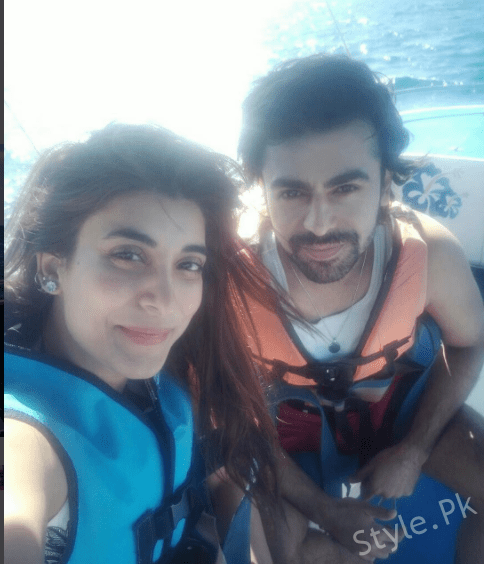 See Urwa Hocane and Farhan Saeed parasailing Together