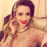 Sana Javed stylish bride